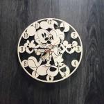 """Настінний годинник з дерева """"Міккі Маус"""""""