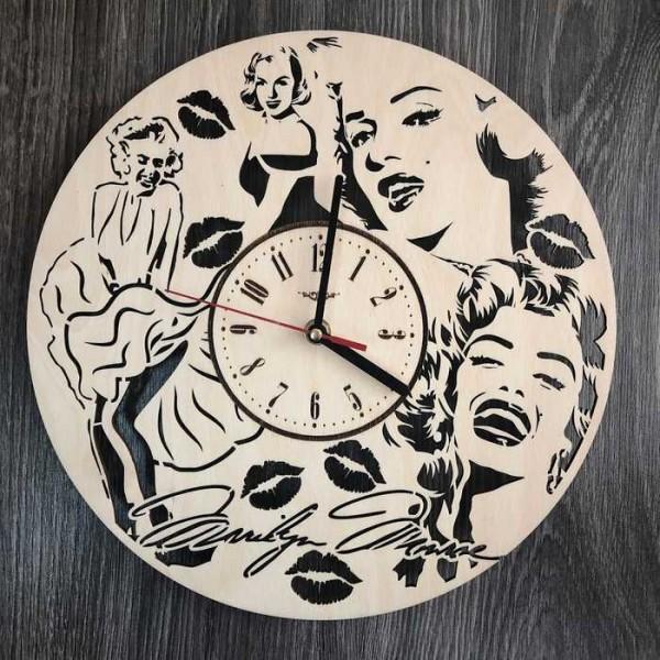 Оригінальний настінний годинник Мерилін Монро