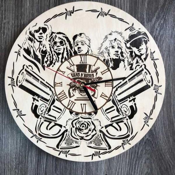 Концептуальний настінний годинник в інтер'єр Guns N` Roses