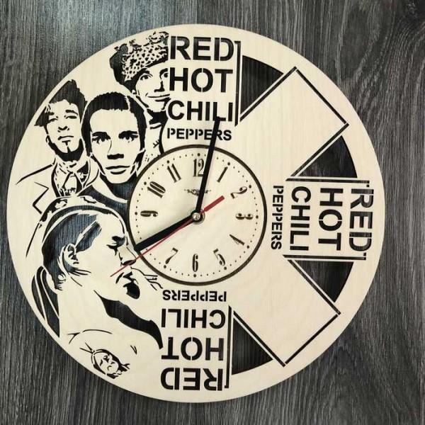 Концептуальний настінний годинники в інтер'єр Red Hot Chili Peppers