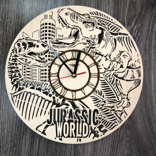 Концептуальний настінний годинник в інтер'єр Світ Юрського періоду