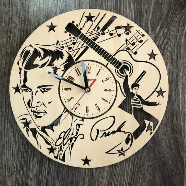 Концептуальний настінний годинник в інтер'єр Елвіс Преслі