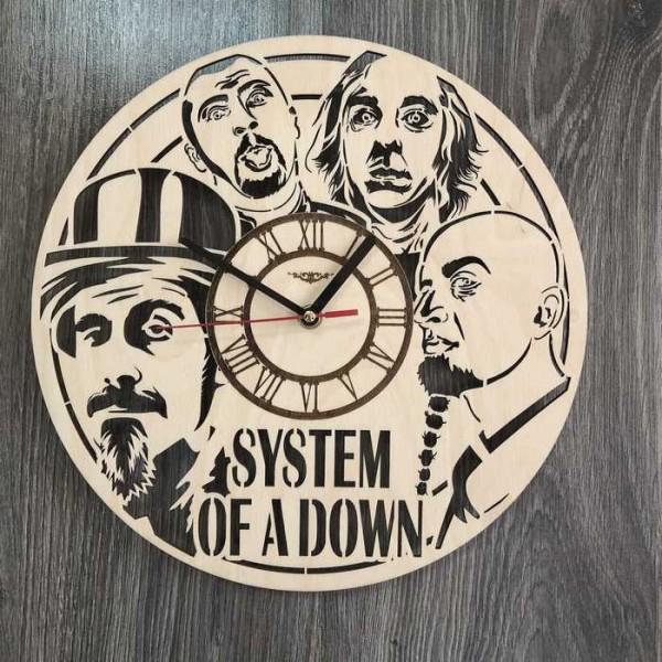 Концептуальний настінний годинник в інтер'єр System of a Down