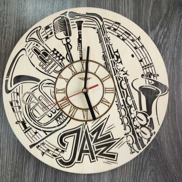 Оригінальний концептуальний настінний годинник Джаз