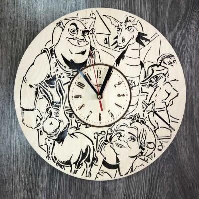 Безшумний настінний годинник в дитячу Шрек