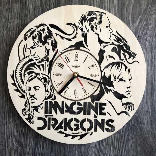 Концептуальний настінний годинник в інтер'єр Imagine Dragons