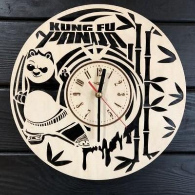 Дитячий настінний дерев'яний годинник Кунг-фу панда