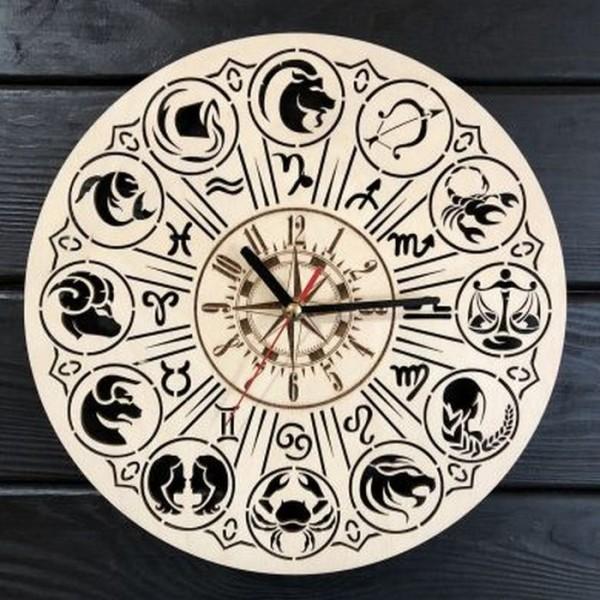 Тематичний інтер'єрний настінний безшумний годинник Знаки зодіаку