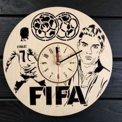 Годинник настінний з дерева FIFA