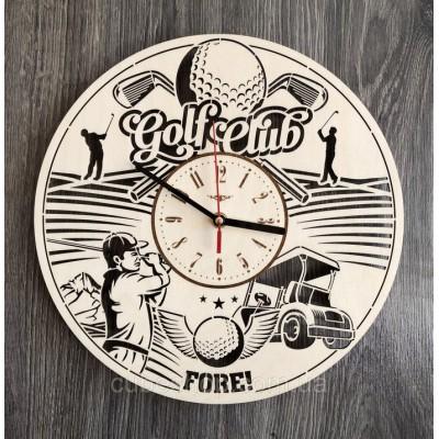 Годинник з дерева настінний Гольф