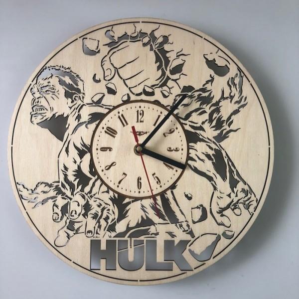 """Концептуальний настінний годинник в інтер'єр """"Халк"""""""