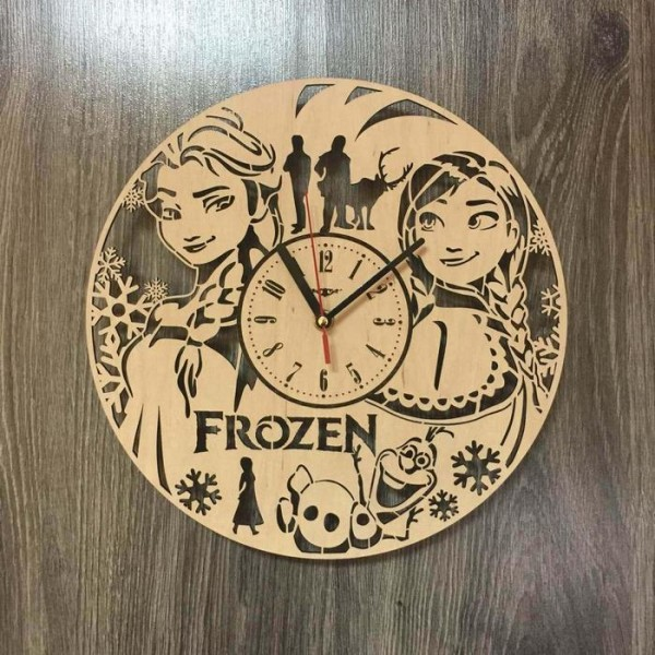 """Настінний годинник в дитячу кімнату """"Холодне серце"""""""