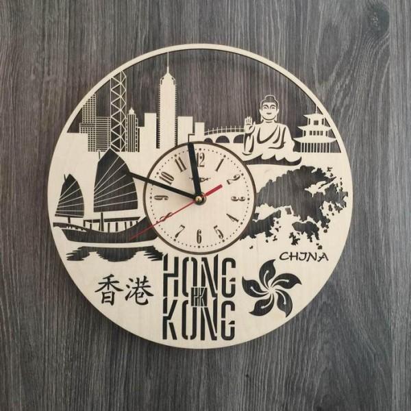 """Настінний годинник з дерева """"Гонконг"""""""