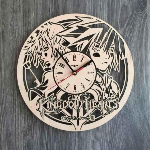 """Настінний годинник з дерева """"Kingdom Hearts"""""""