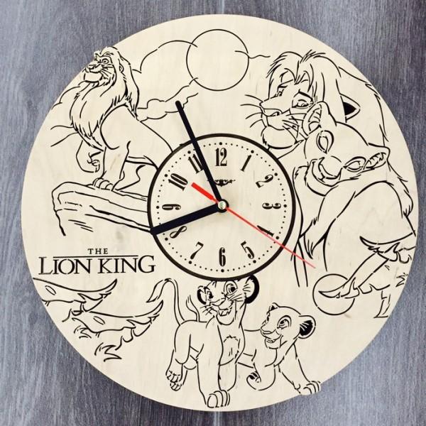 """Настінний годинник з дерева """"Король Лев"""""""