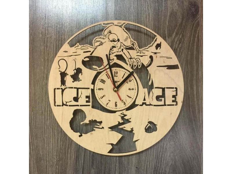 """Настінний годинник з дерева """"Льодовиковий період 2"""""""