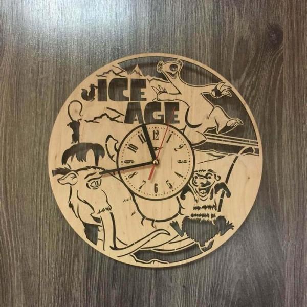 """Настінний годинник з дерева """"Льодовиковий період"""""""