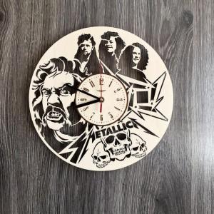 Дерев'яний годинник на стіну Metallica