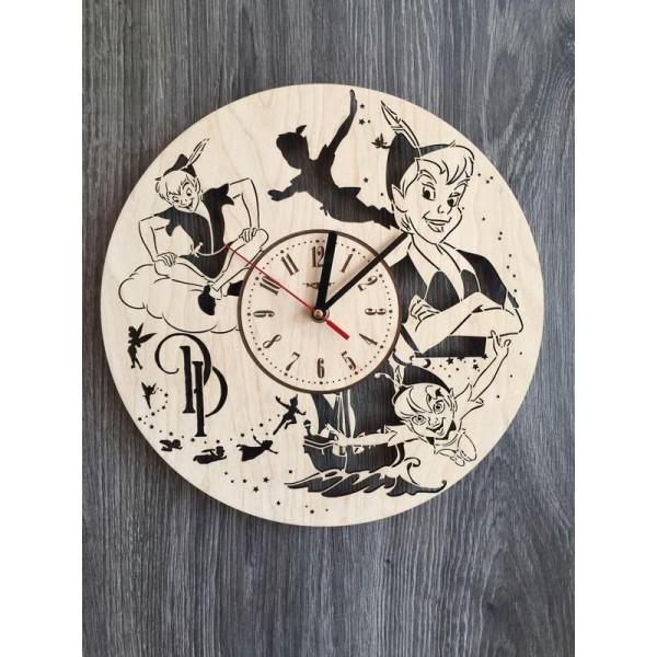 """Настінний годинник з дерева """"Пітер Пен"""""""