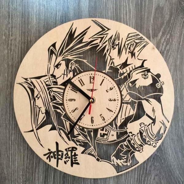 """Настінний годинник з дерева """"Остання фантазія"""""""