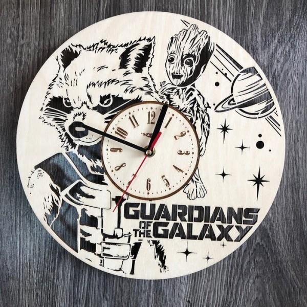 """Оригінальний настінний годинник з дерева """"Вартові Галактики"""""""