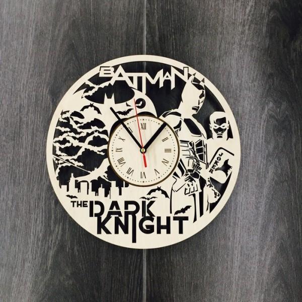 """Настінний годинник з дерева """"The Dark Knight"""""""