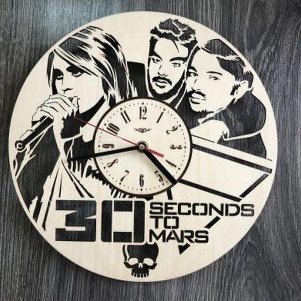 """Концептуальний настінний годинник в інтер'єр """"Thirty Seconds to Mars"""""""