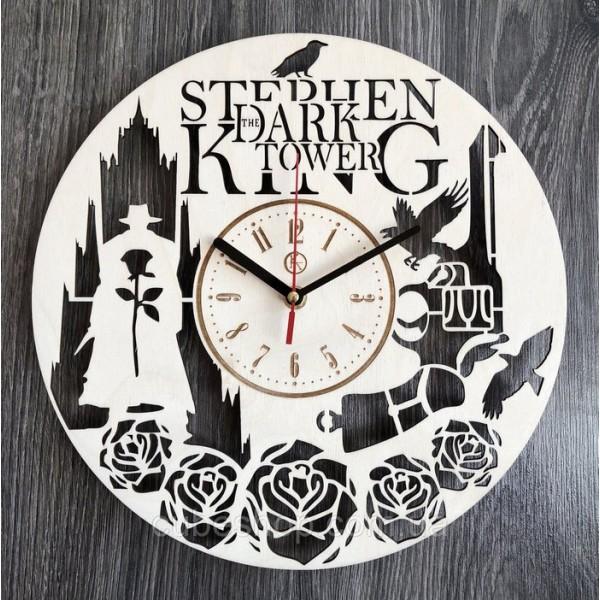 Круглий настінний годинник з дерева Темна вежа