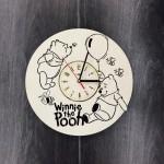 """Настінний годинник з дерева """"Вінні Пух"""""""