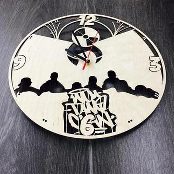 """Настінний годинник з дерева """"Wu-Tang Clan"""""""