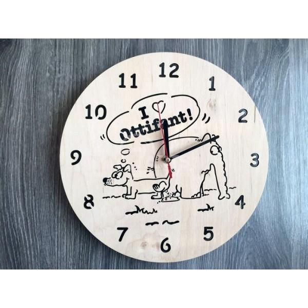 """Настінний годинник з дерева """"Забавне звірятко"""""""
