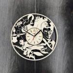 Настінний годинник ручної роботи Гаррі Поттер ніч в замку