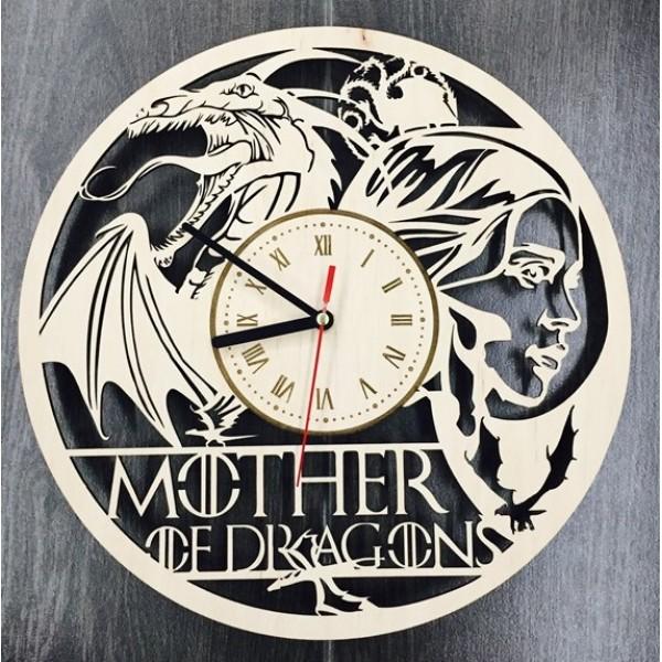 """Настінний годинник з дерева """"Гра престолів"""""""