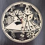 Годинник настінний Казино