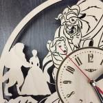 Оригінальний настінний годинник Красуня і чудовисько