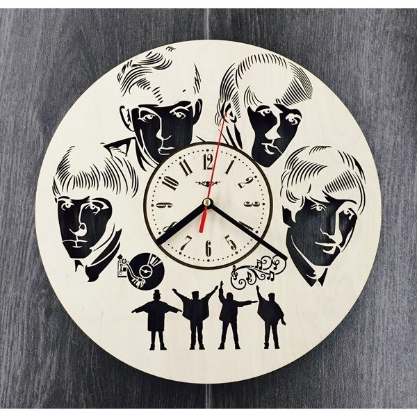 """Настінний годинник з дерева """"Легенда рока"""""""