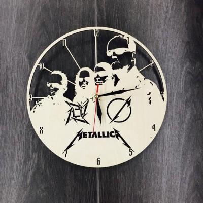 Годинник з дерева на стіну Metallica