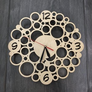 Настінний дерев'яний годинник Модерн