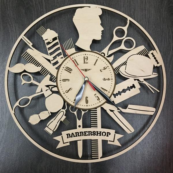 Настінний годинник з дерев'яним циферблатом Чоловічий стиліст