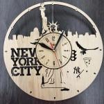 Годинник настінний з дерева Нью-Йорк, Статуя Свободи