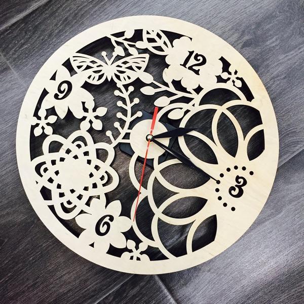 Настінний еко-годинник Весняні мотиви