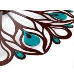 Настінний годинник Glozis Peacock Feather (Перо павича)