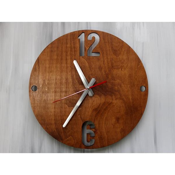 Дерев'яний настінний годинник 12-6