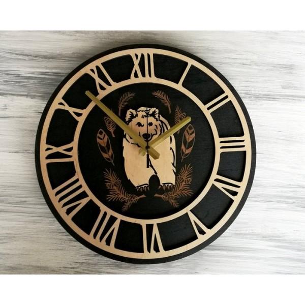 Настінний годинник Медвідь