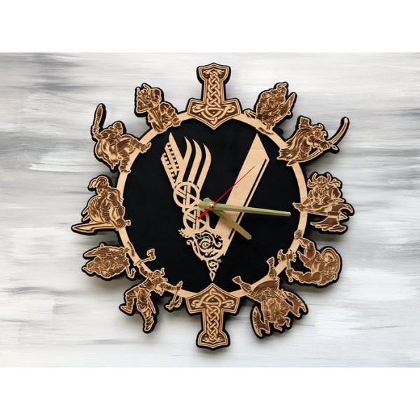 Годинник настінний Вікінги