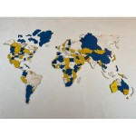 Багатошарова мапа світу з LED підсвіткою (кольори дерева на вибір)