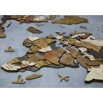 Багатошарова мапа світу з дерева (жовто-синя, чорно-натуральна, коричнева)
