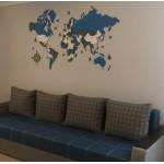 Дерев'яна трьохшарова (багатошарова) карта світу на стіну (більше 20 мап на вибір)