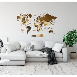 Деревянная трехслойная (многослойная) карта мира на стену (больше 20 карт на выбор)