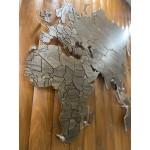 Дерев'яна мапа світу з прорізами на акрилі та LED підсвіткою (від 150 см, кольори на вибір)